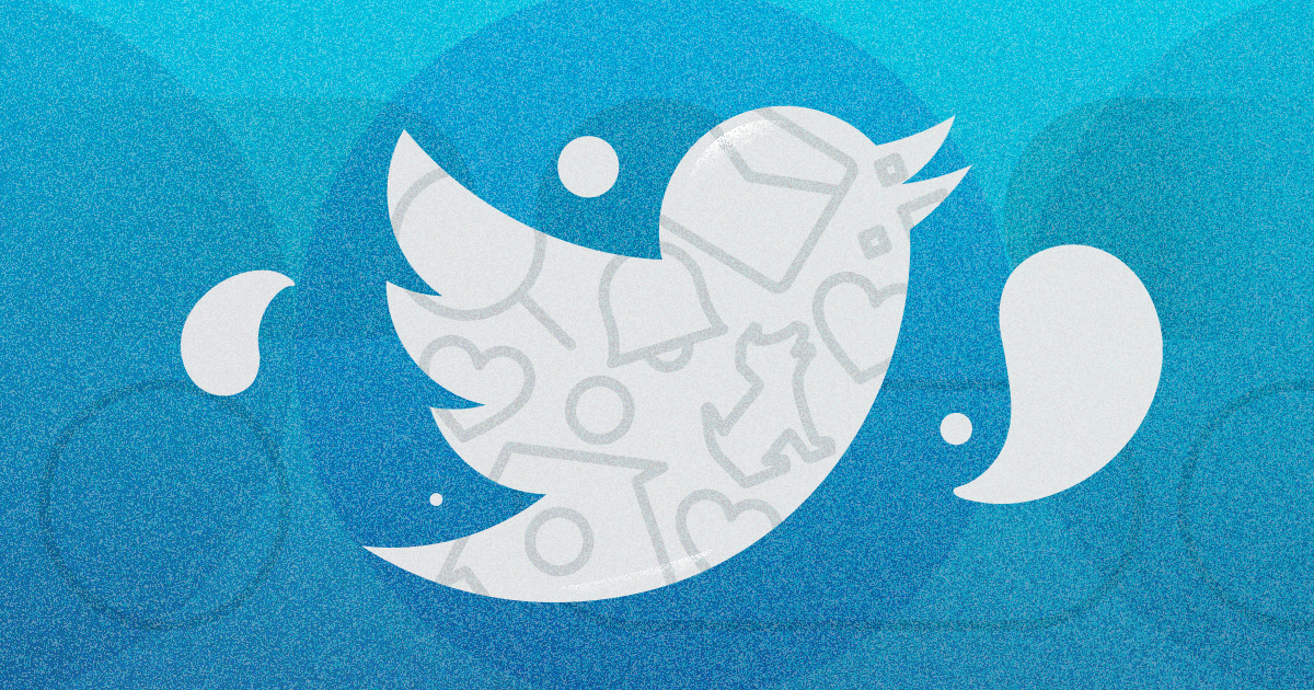 The Twitter logo against a teal background
