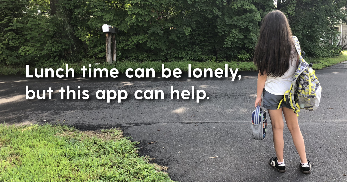 Sitting Alone at Lunch: Sit With Us App Helps Kids Find a Seat