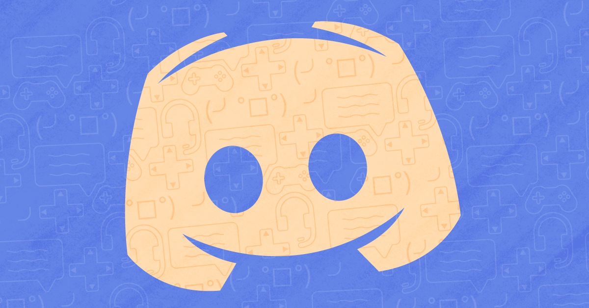 Is Discord safe? Image shows the Discord logo in orange on a blue background