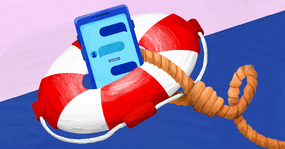 A life preserver with a cellphone inside of it