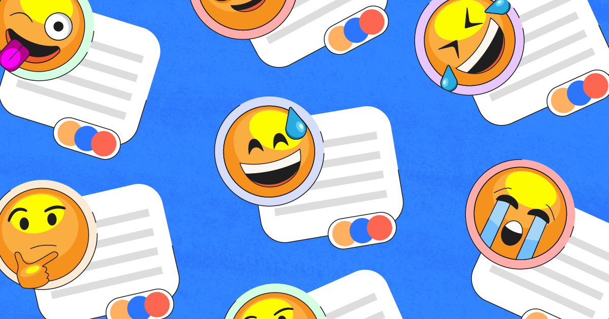 parenting quotes in text boxes with laughing emoji on a blue background