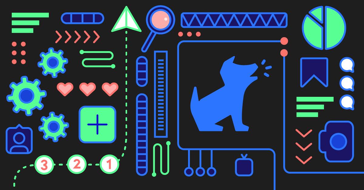 AI background with Bark logo