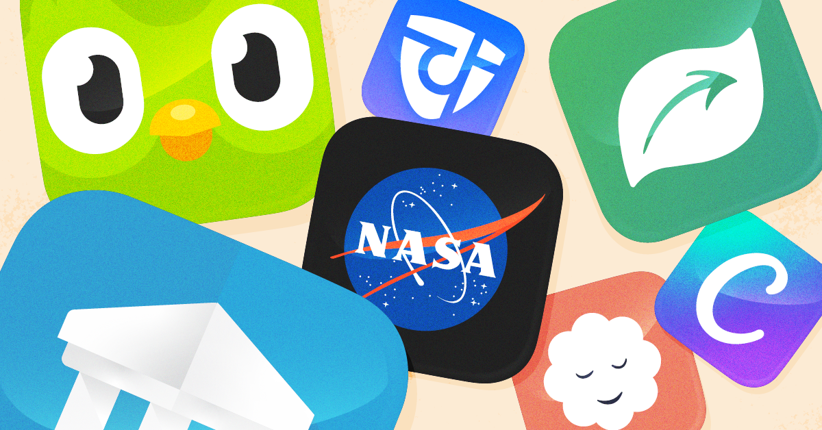 Learning apps and their icons