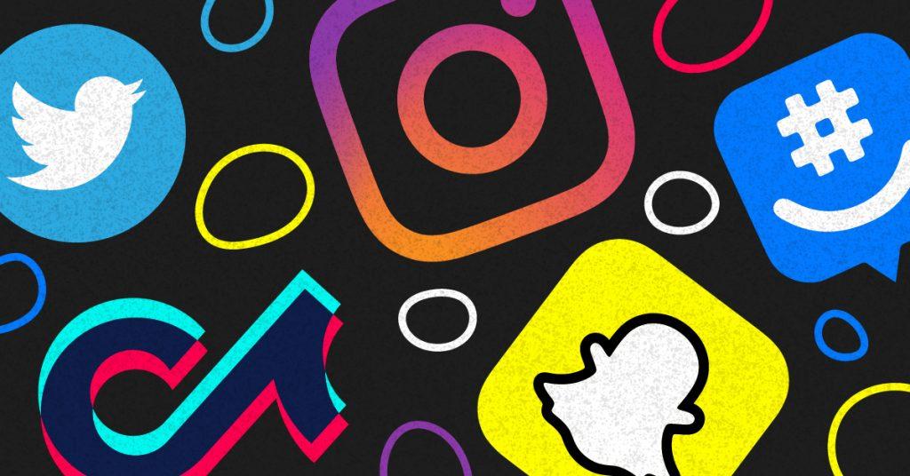 Twitter Instagram TikTok GroupMe Snapchat