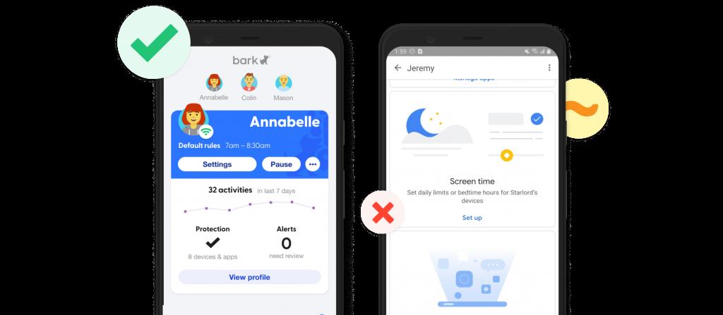 Bark vs. Google Family Link