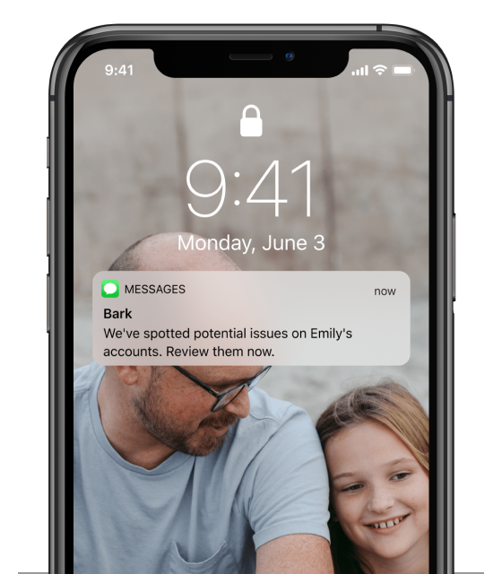 bark alert on iphone screen