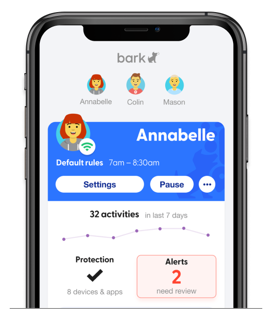 bark product dashboard with alerts