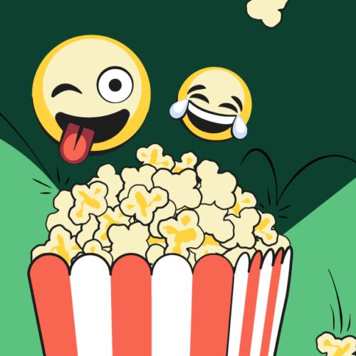 funny emojis and popcorn image family movies on netflix