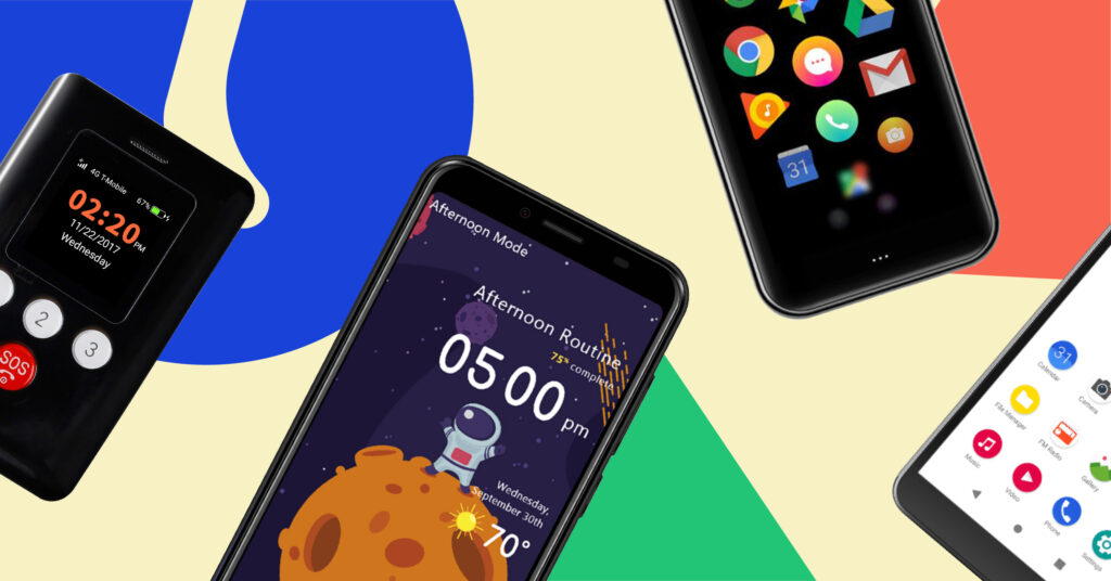 Best starter phones for kids shown by different phones