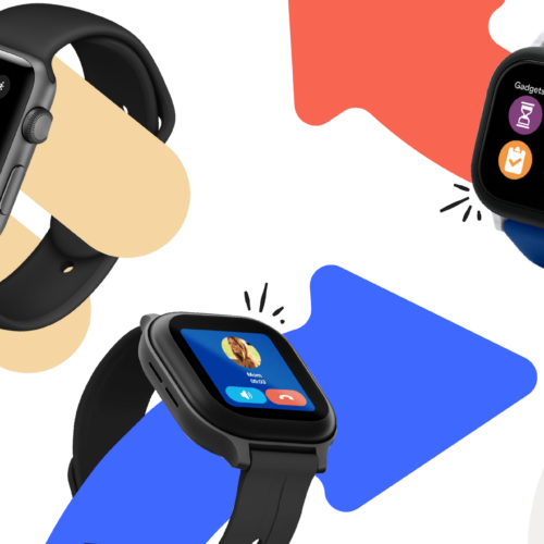 Smartwatches for kids image with three watches